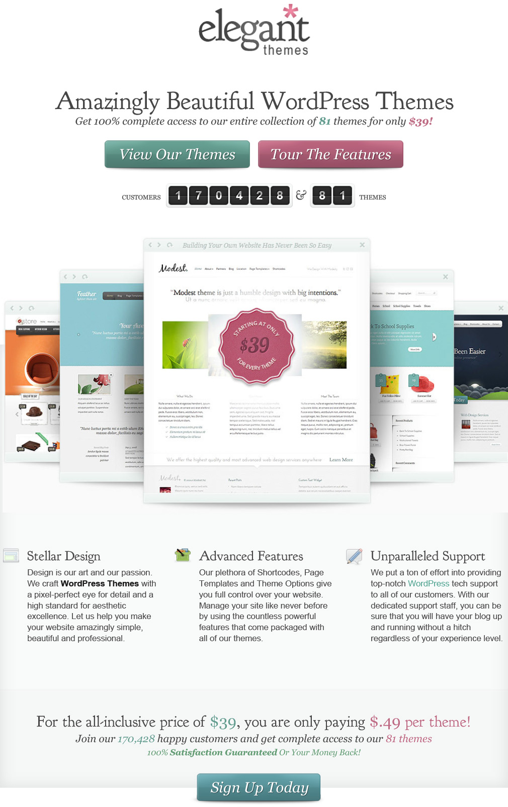 WordPress Themes Loved By Over 170k Customers